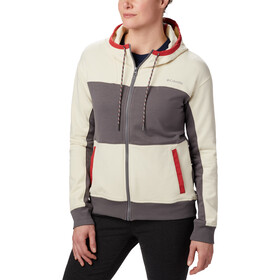 Columbia Columbia Lodge Chaqueta Cremallera Completa Mujer, city grey heather/chalk heather